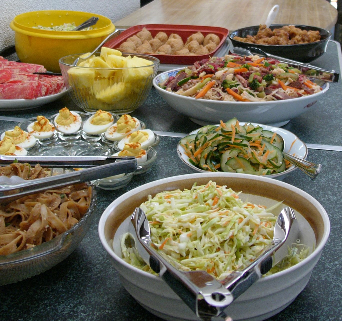 Potluck Dinner Party Ideas  Potluck in California all about the money