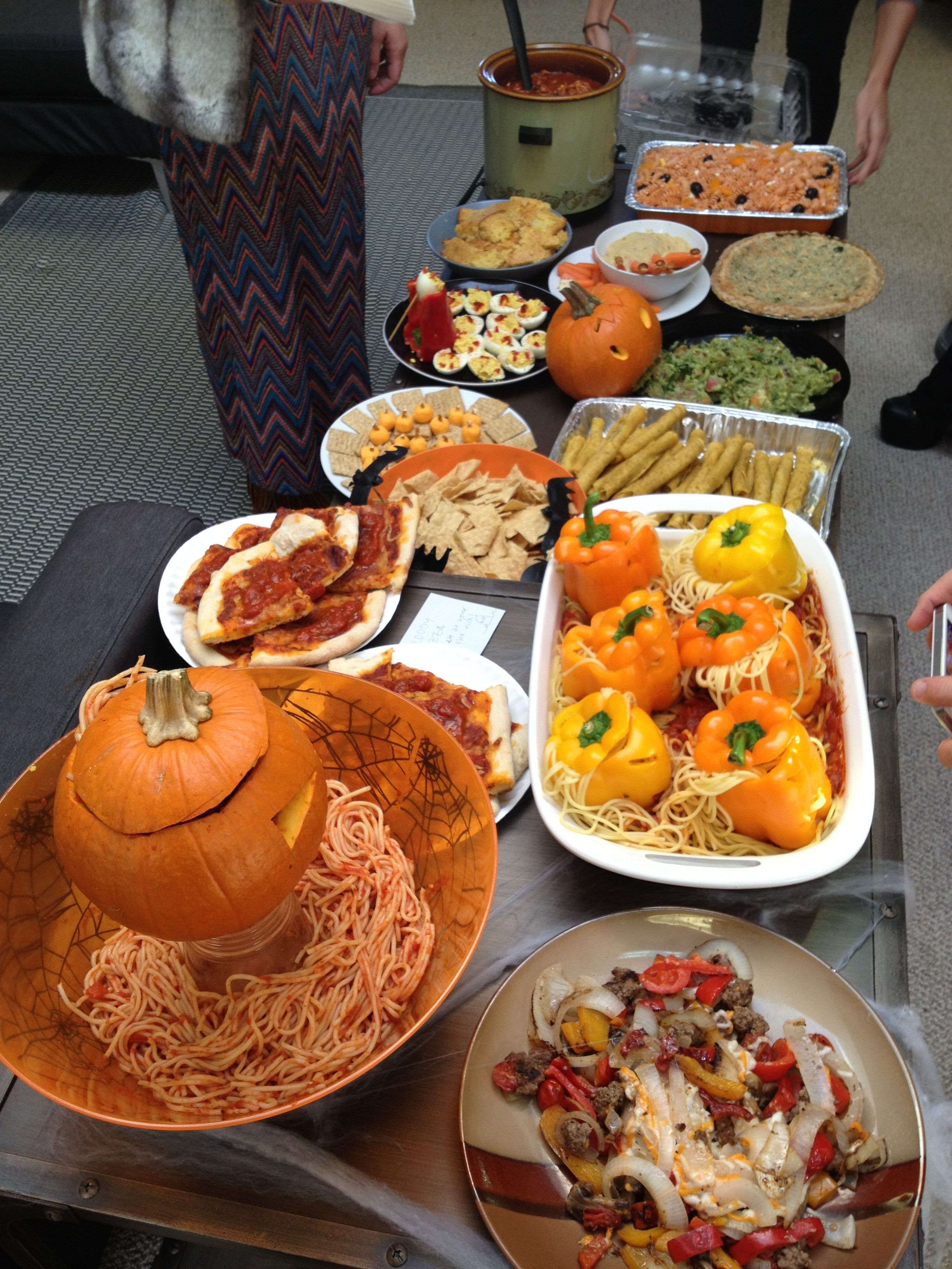 Potluck Dinner Party Ideas  Halloween themed office potluck