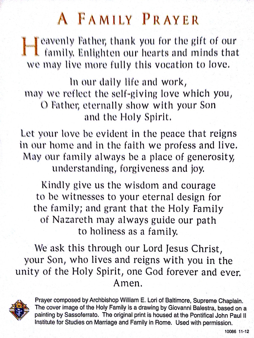 Prayers For My Family Quotes  MDCCW