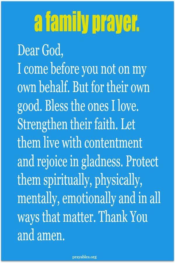 Prayers For My Family Quotes  Best 25 Family prayer ideas on Pinterest