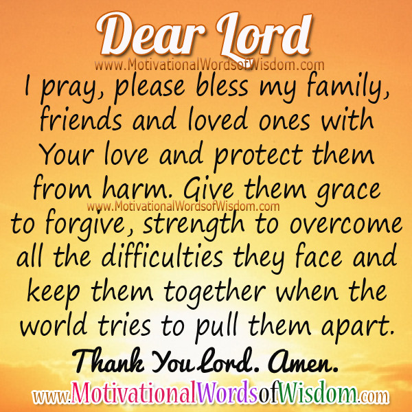 Prayers For My Family Quotes  Best 25 Prayer for my family ideas on Pinterest