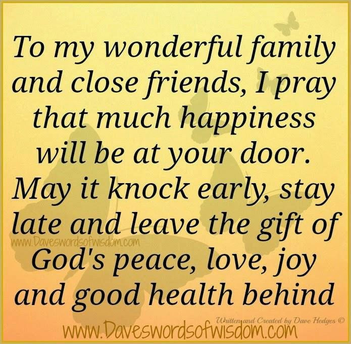 Prayers For My Family Quotes  To My Wonderful Family And Close Friends s
