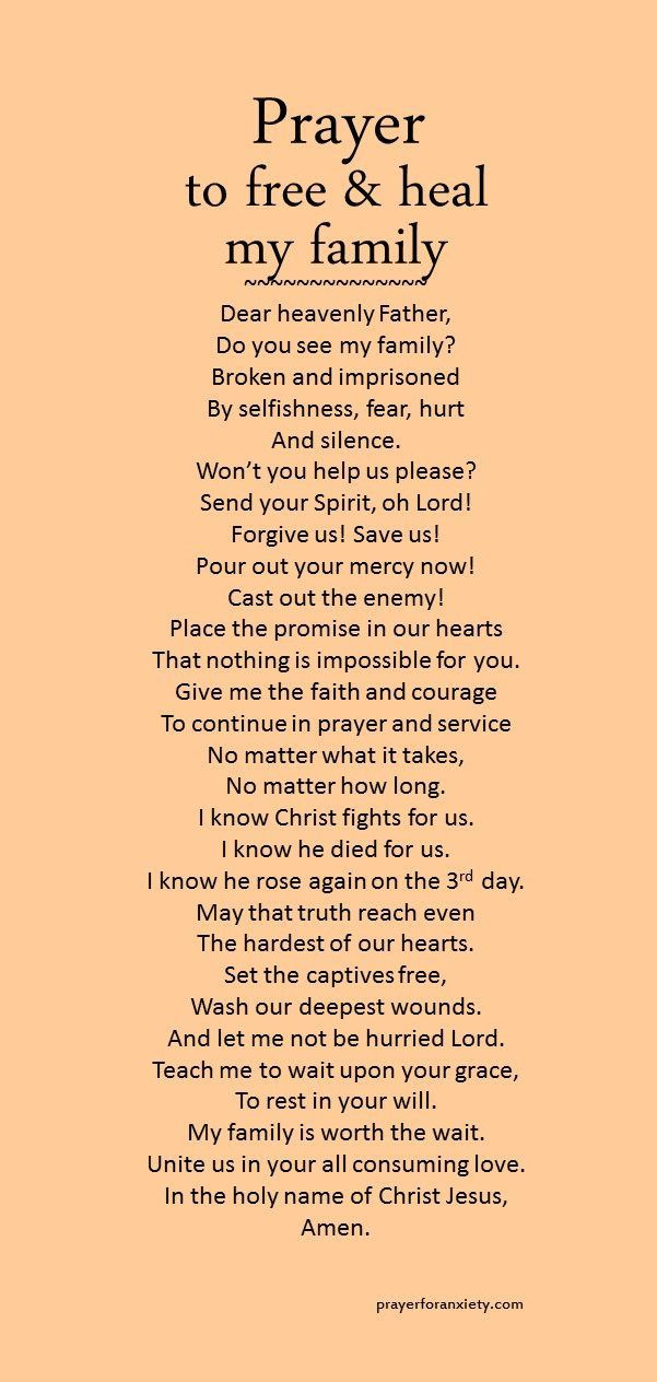 Prayers For My Family Quotes  25 best ideas about Family prayer on Pinterest
