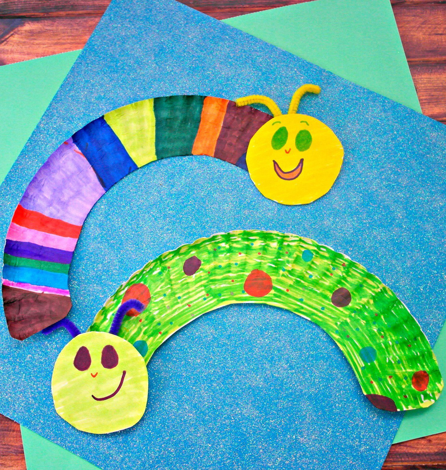 Preschool Arts And Craft  Paper Plate Caterpillars For kids