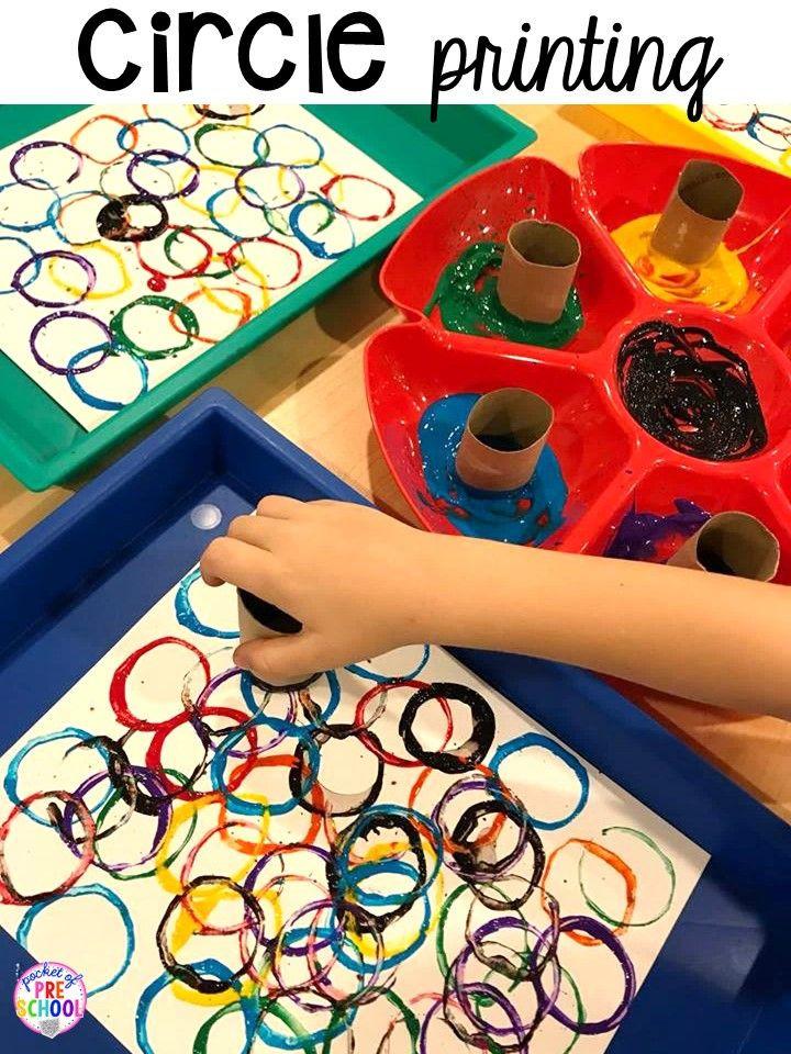 Preschool Arts And Craft  2D Shape Activities for Preschool Pre K and Kindergarten