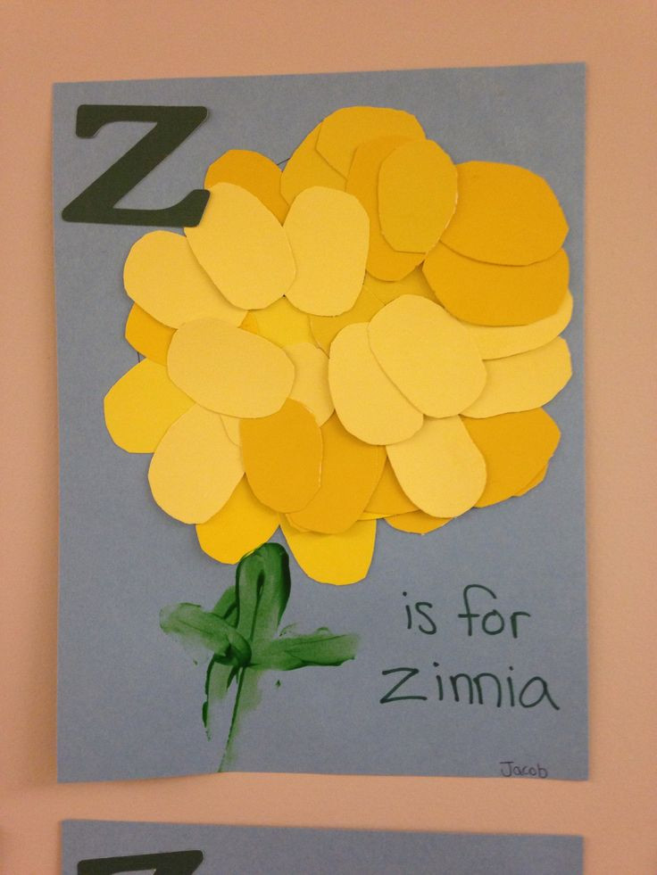 Preschool Arts And Craft  Z is for zinnia Preschool Oval craft Letter z Spring