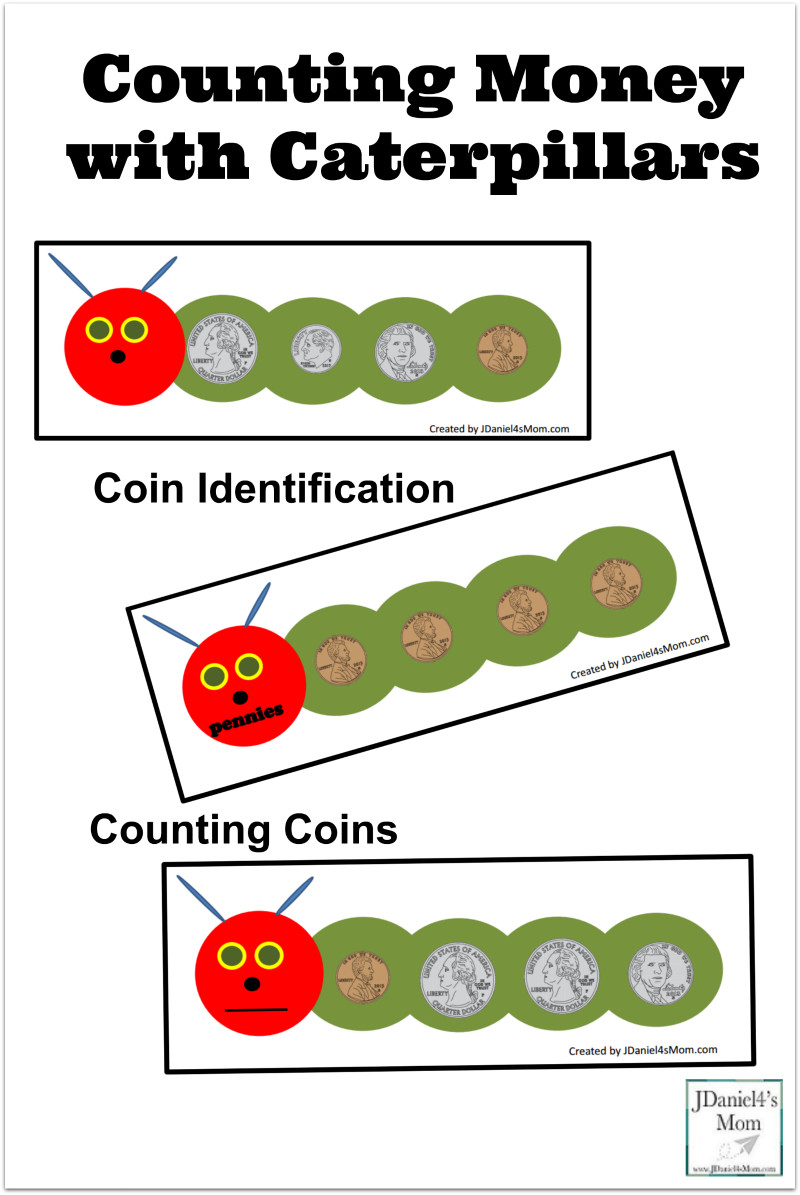 Preschool Money Crafts  Counting Money with Caterpillars Activities and Printables