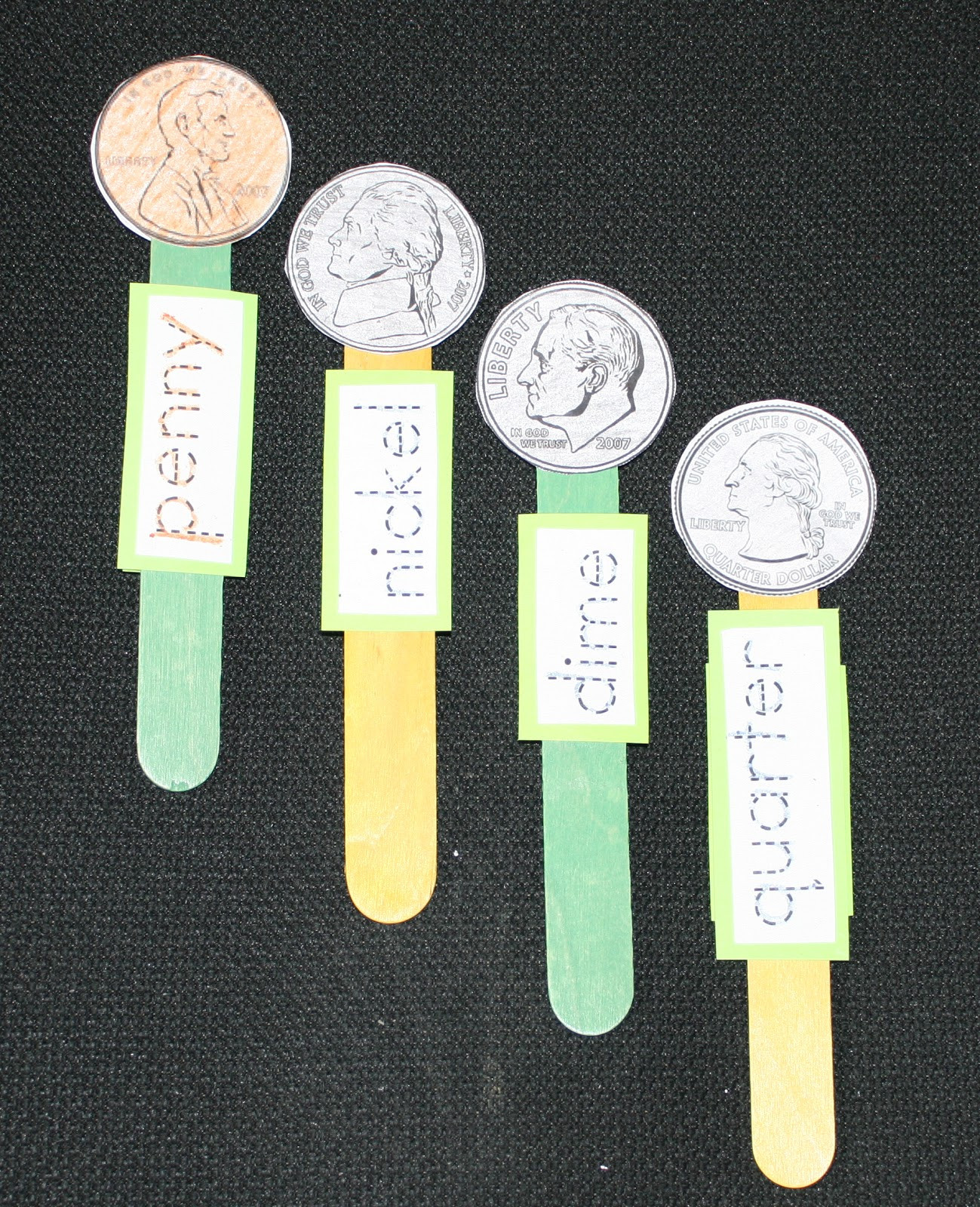 Preschool Money Crafts  Coin Popsicle Stick Puppets Classroom Freebies