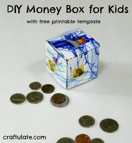 Preschool Money Crafts  DIY Money Box for Kids Craftulate