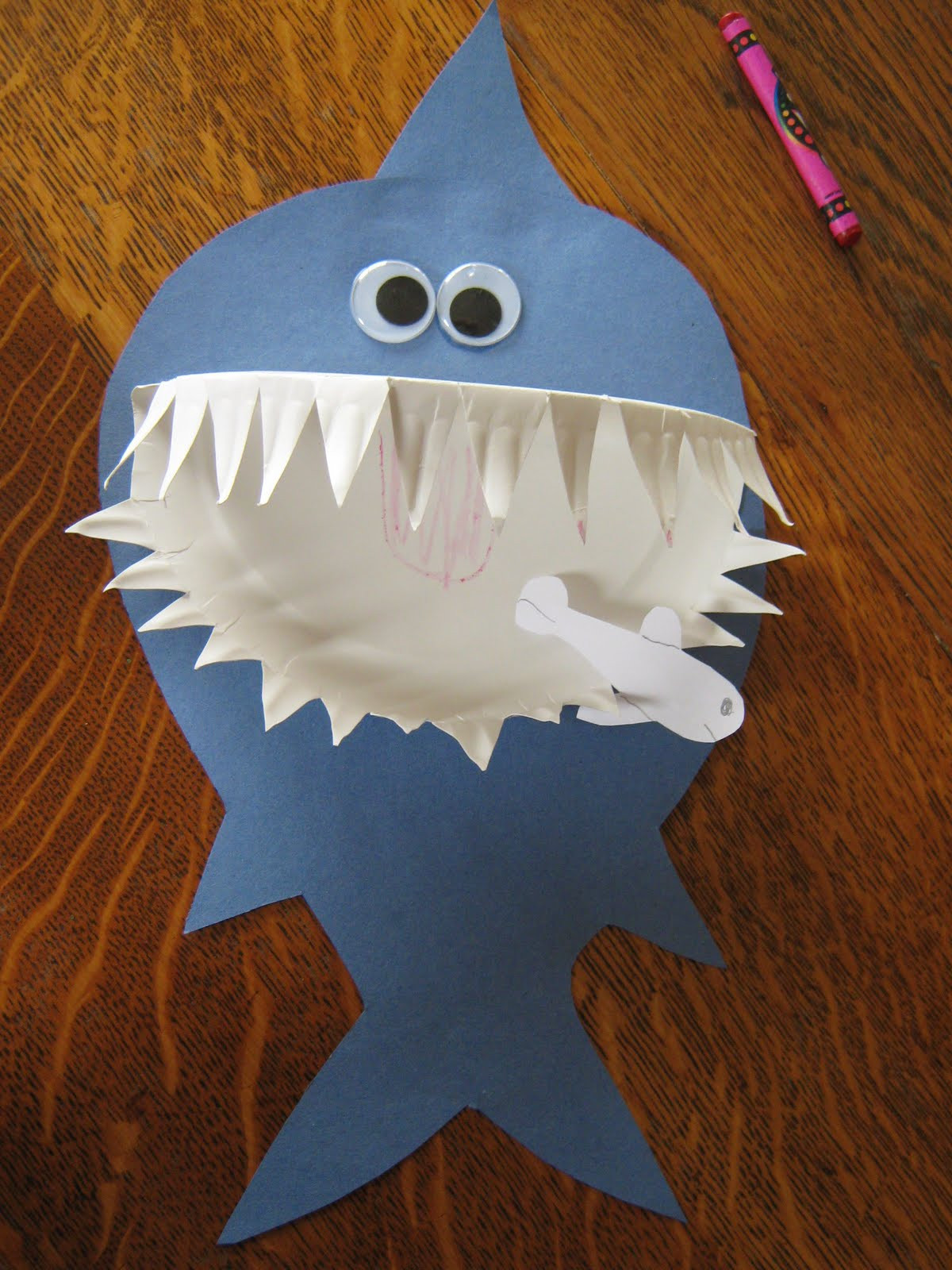 Preschool Projects Ideas  Paper Plate Shark
