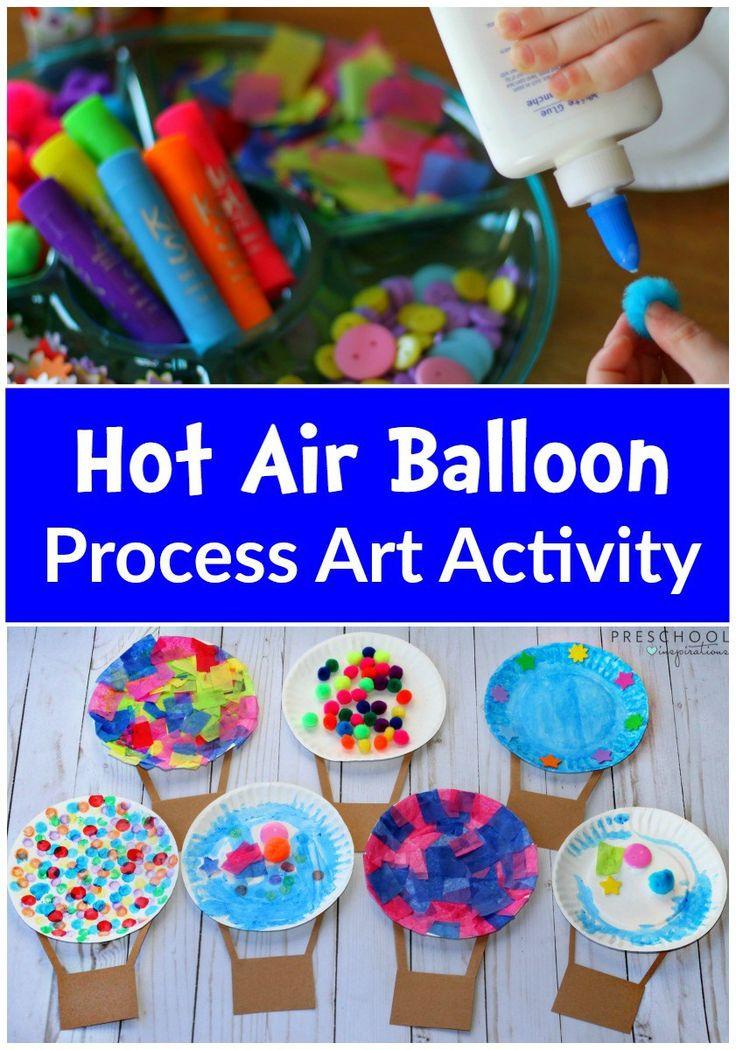 Preschool Projects Ideas  Hot Air Balloon Process Art Activity