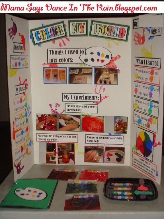 Preschool Projects Ideas  Preschool Science Fair Mixing Primary Colors