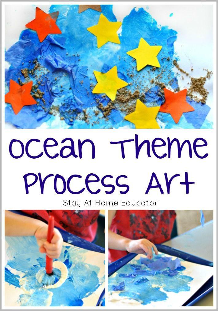 Preschool Projects Ideas  Ocean Art for Toddlers and Preschoolers Process Art