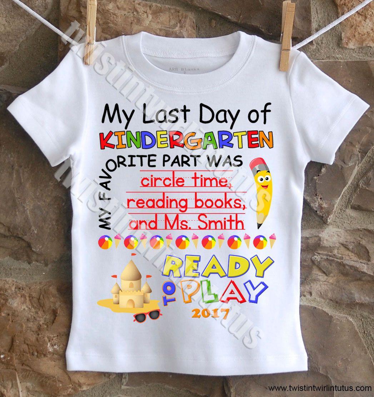 Preschool Shirt Ideas  Boys Last Day of School Shirt Customized