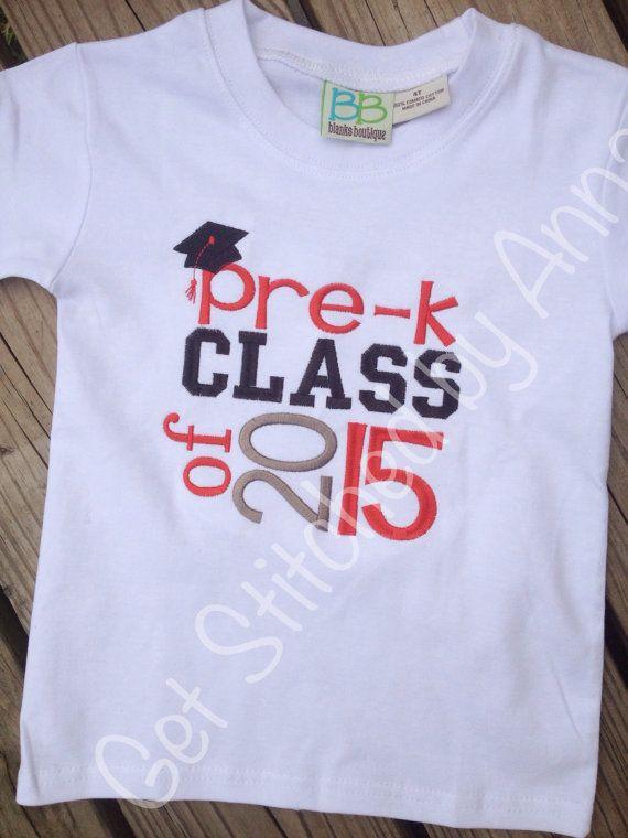 Preschool Shirt Ideas  Pre k Class of 2015 shirt preschool shirt on Etsy $20 00