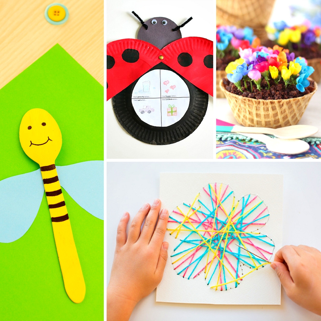 Preschool Spring Crafts Ideas  20 Fun and Adorable Spring Crafts for Kids Mum In The
