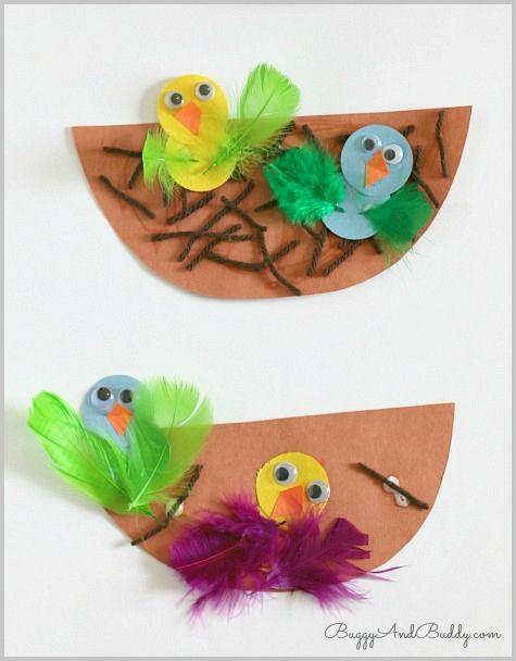Preschool Spring Crafts Ideas  Spring Crafts for Kids Nest and Baby Bird Craft