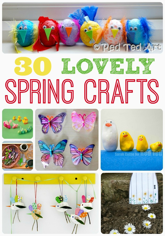 Preschool Spring Crafts Ideas  Spring Craft Ideas Red Ted Art