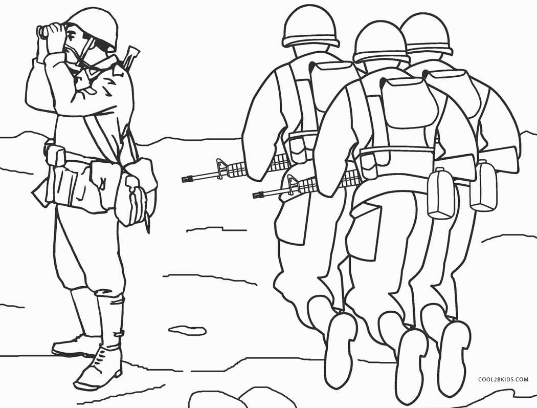 Printable Army Coloring Pages  Free Printable Army Coloring Pages For Kids