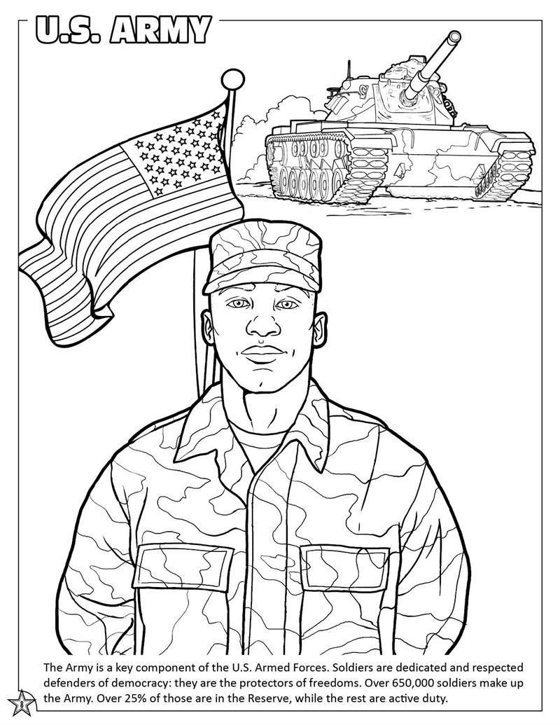Printable Army Coloring Pages  Coloring Books