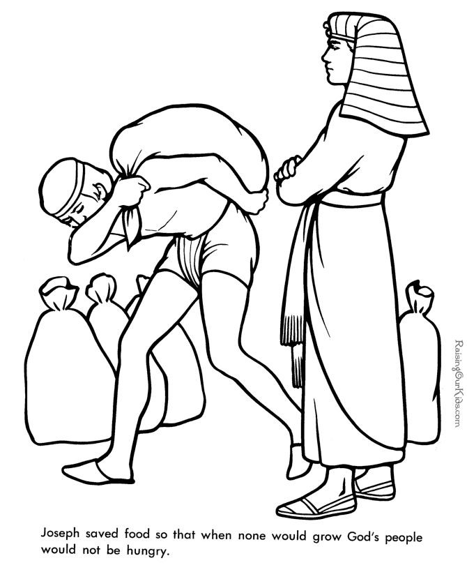 Printable Bible Coloring Pages For Toddlers?Trackid=Sp-006  Joseph supervises the gathering and distribution of grain