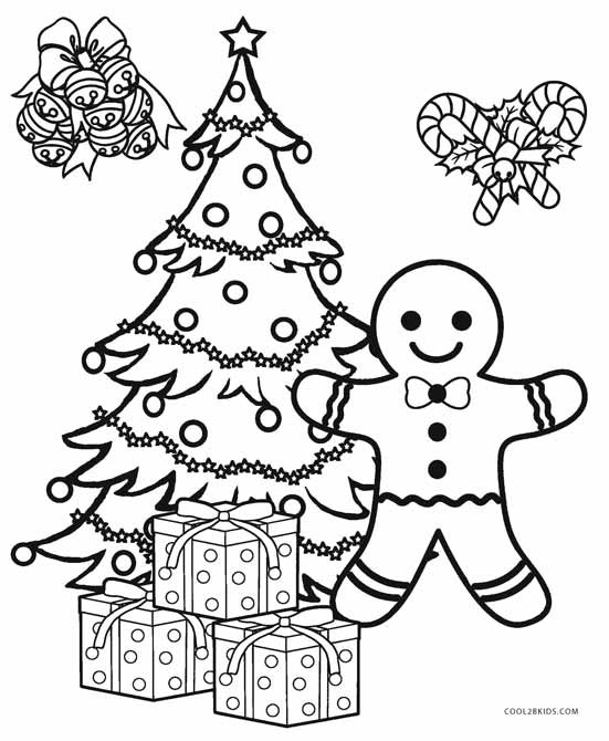 Printable Christmas Tree Coloring Pages  Printable Christmas Tree Coloring Pages For Kids