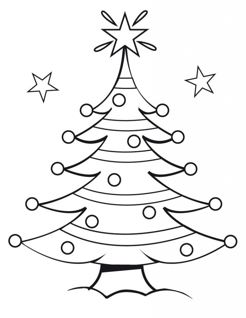 Printable Christmas Tree Coloring Pages  Free Printable Christmas Tree Coloring Pages For Kids