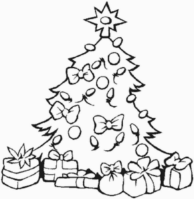 Printable Christmas Tree Coloring Pages  Free Printable Trees Download Free Clip Art