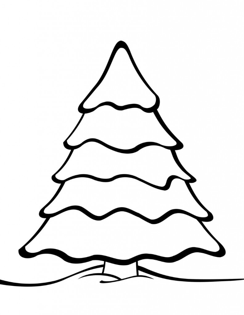 Printable Christmas Tree Coloring Pages  Free Printable Christmas Tree Templates