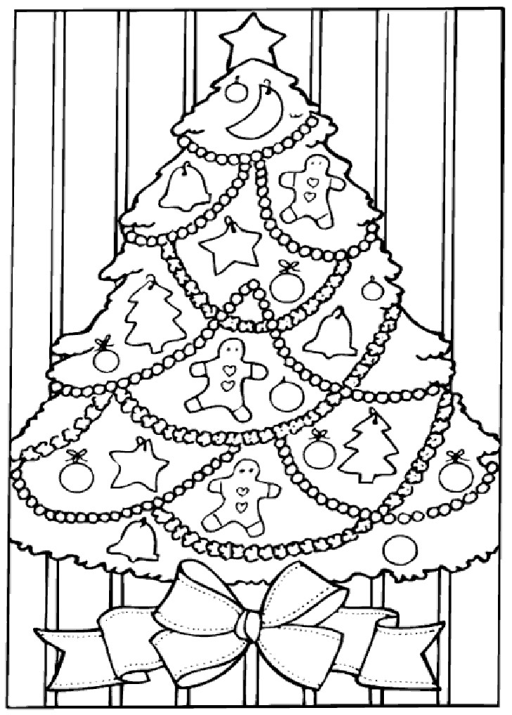 Printable Christmas Tree Coloring Pages  Coloring Pages Christmas Trees Coloring Home