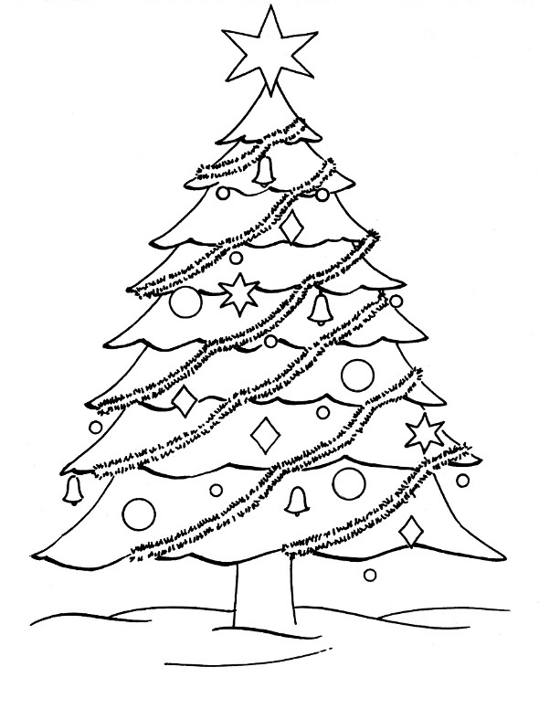 Printable Christmas Tree Coloring Pages  Free Coloring Pages Christmas Tree Coloring Pages