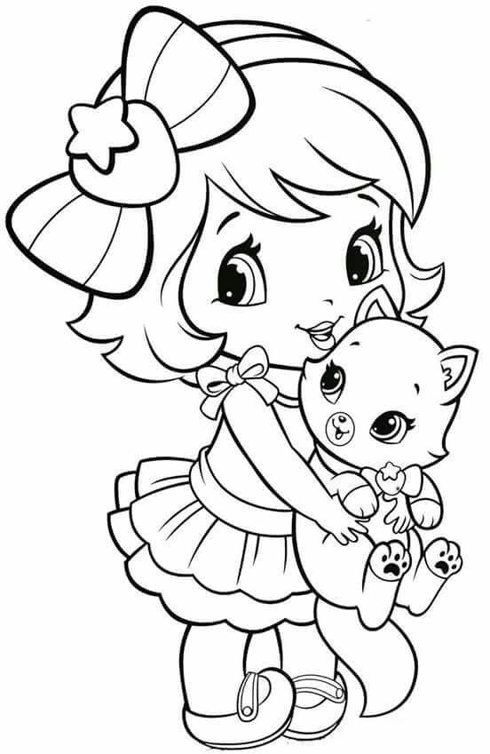 Printable Coloring Sheets For Girls  Coloring Pages Little Girl