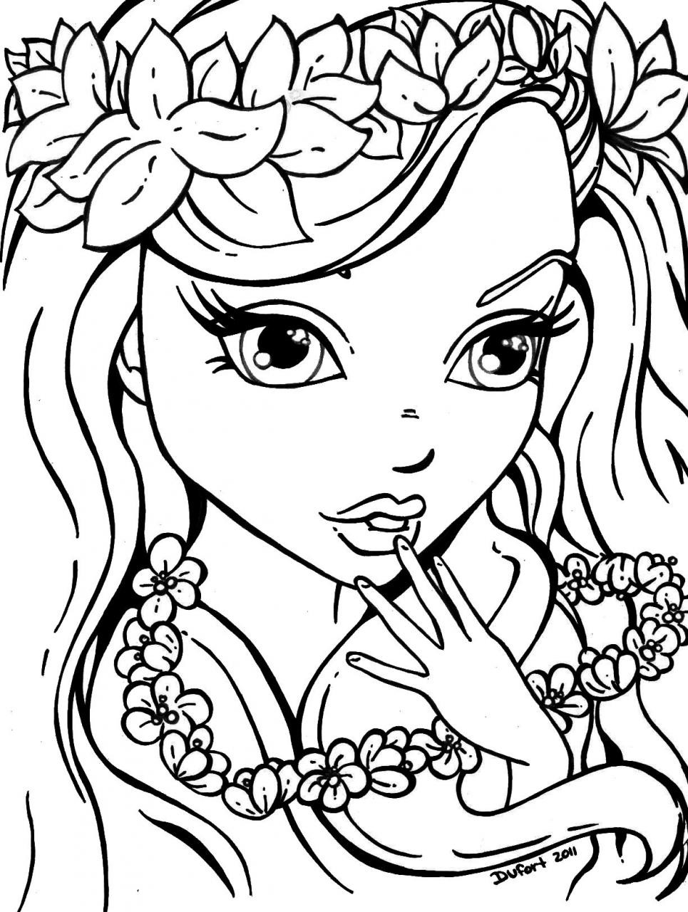 Printable Coloring Sheets For Girls  girl coloring pages to print