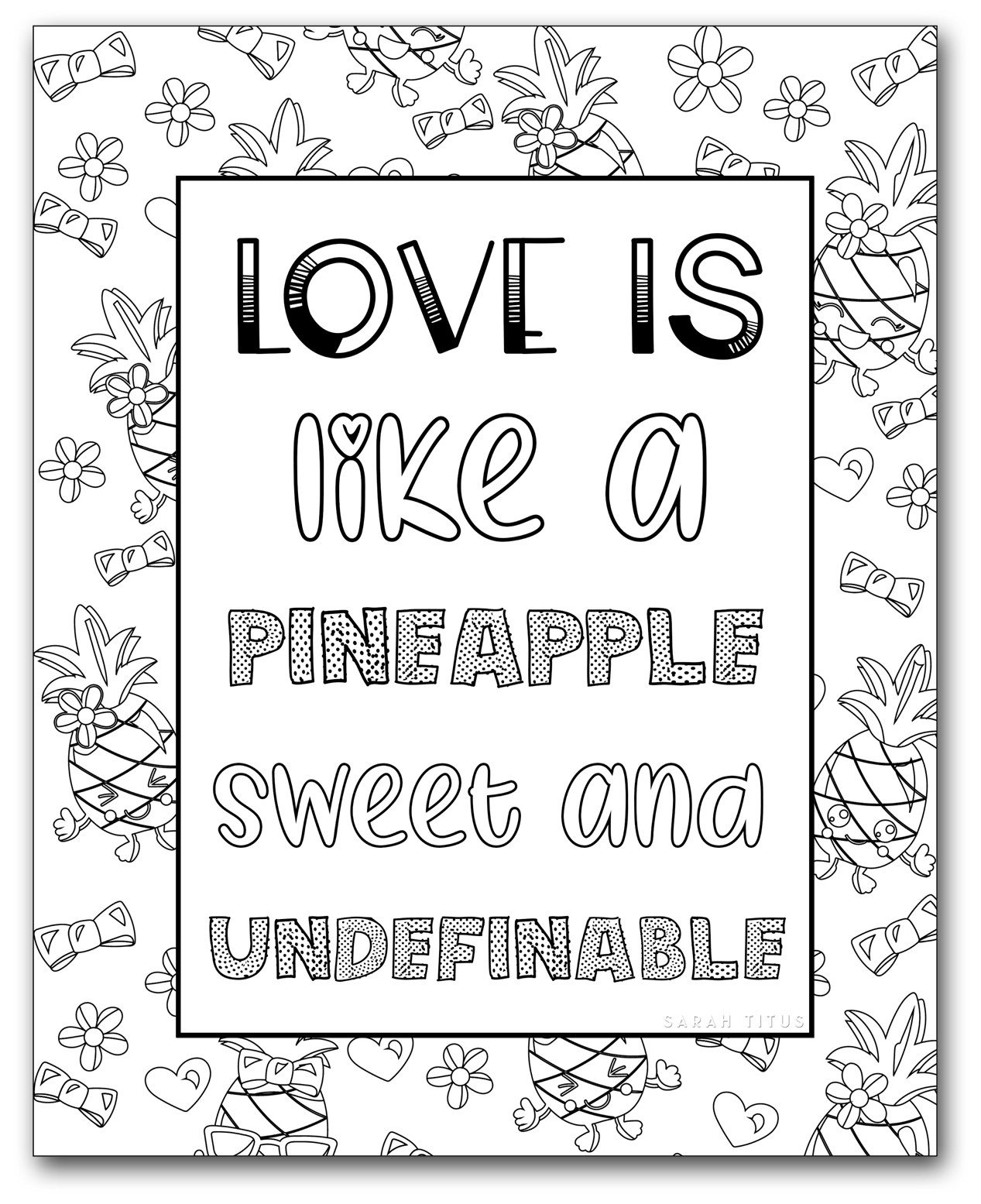 Printable Coloring Sheets For Girls  Printable Coloring Pages for Girls Sarah Titus