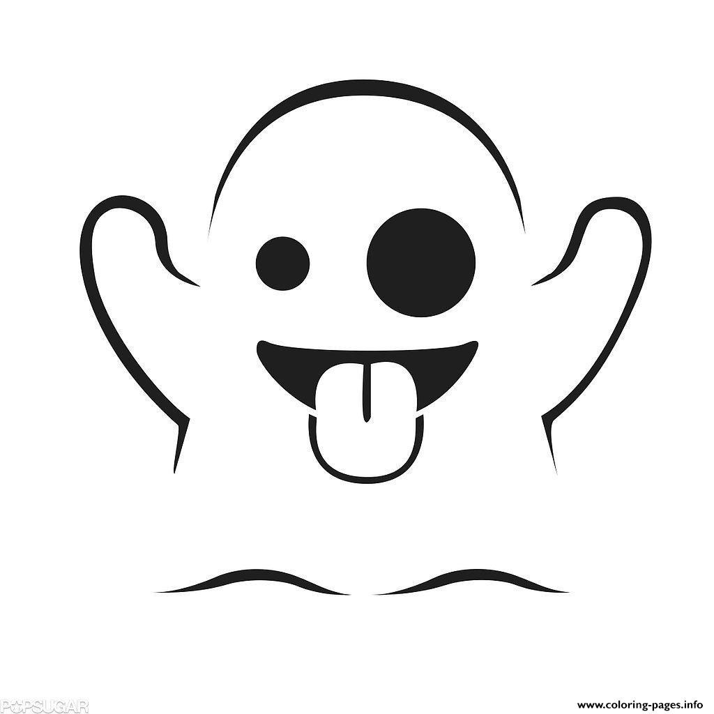 Printable Emoji Coloring Sheets  Emoji Ghost Coloring Pages Printable