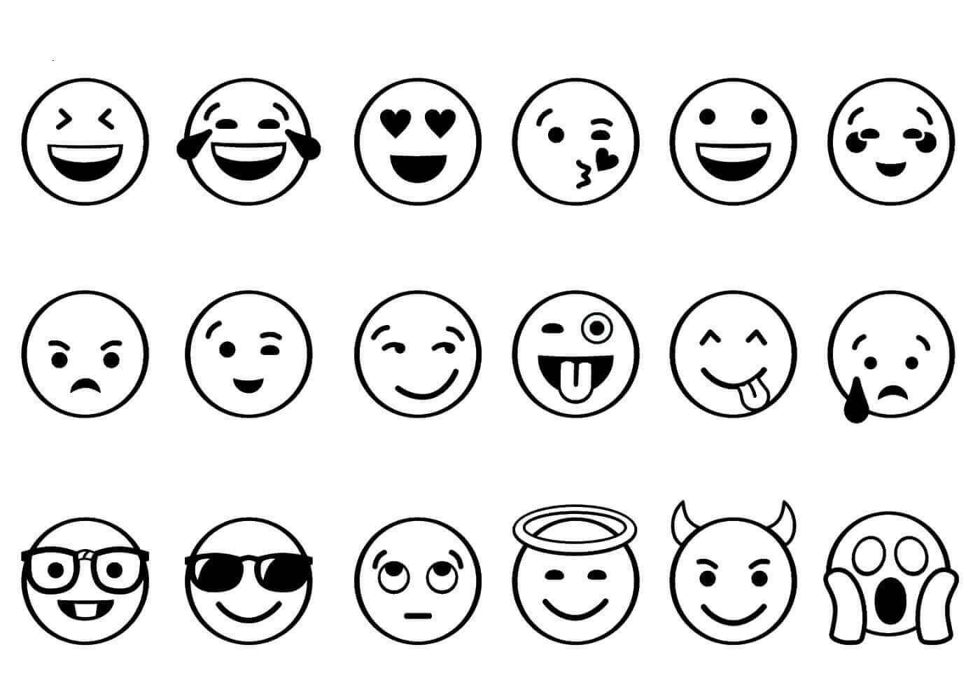 Printable Emoji Coloring Sheets  Free Printable Emoji Coloring Pages