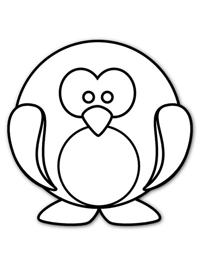 Printable Penguin Coloring Pages  Penguin Printable Coloring Page