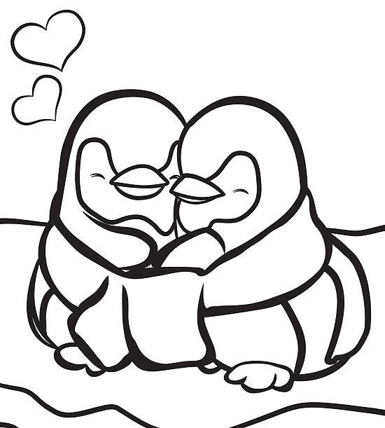 Printable Penguin Coloring Pages  Printable Winter Coloring Pages
