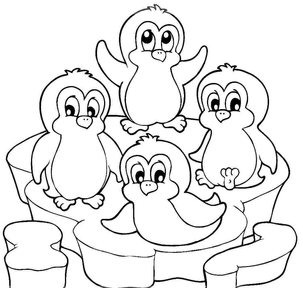 Printable Penguin Coloring Pages  Cute Penguin Coloring Pages Coloring Home