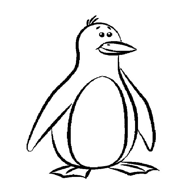 Printable Penguin Coloring Pages  Penguin Template Animal Templates