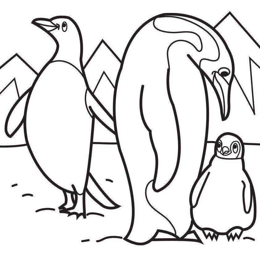 Printable Penguin Coloring Pages  Penguin Printable Coloring Pages Coloring Home