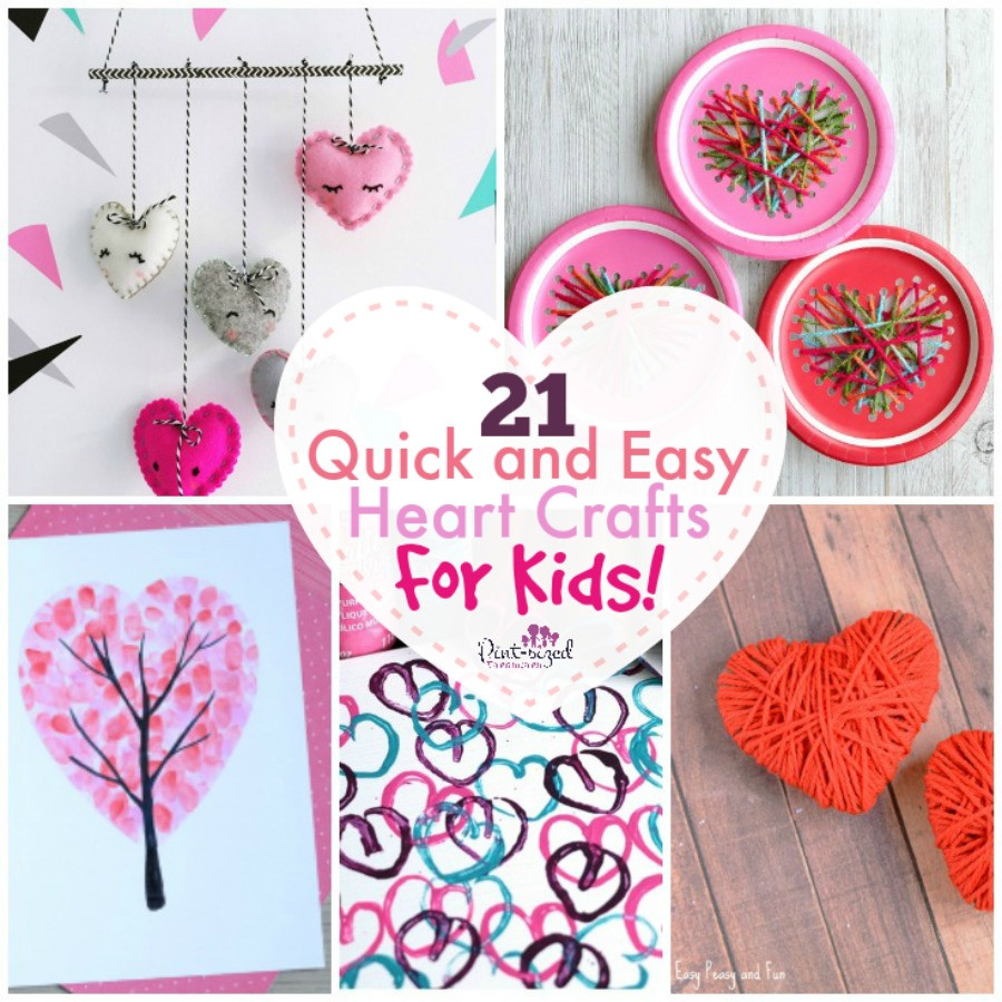 Quick And Easy Crafts For Kids  21 Quick and Easy Heart Crafts for Kids · Pint sized Treasures