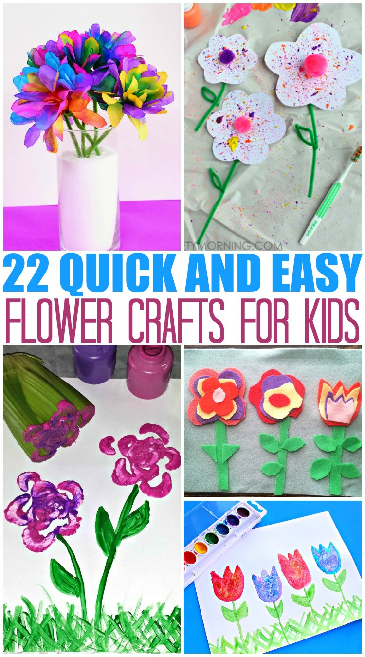 Quick And Easy Crafts For Kids  20 Quick and Easy Flower Crafts for Kids The Mom Creative