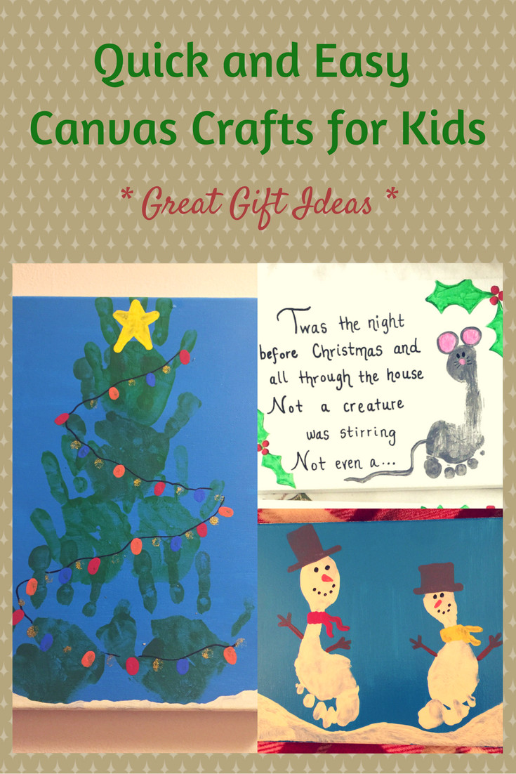 Quick And Easy Crafts For Kids  Canvas Crafts for Kids Great Gift Ideas