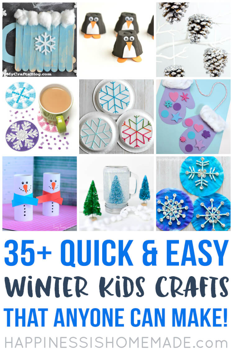 Quick And Easy Crafts For Kids  Easy Winter Kids Crafts That Anyone Can Make Happiness