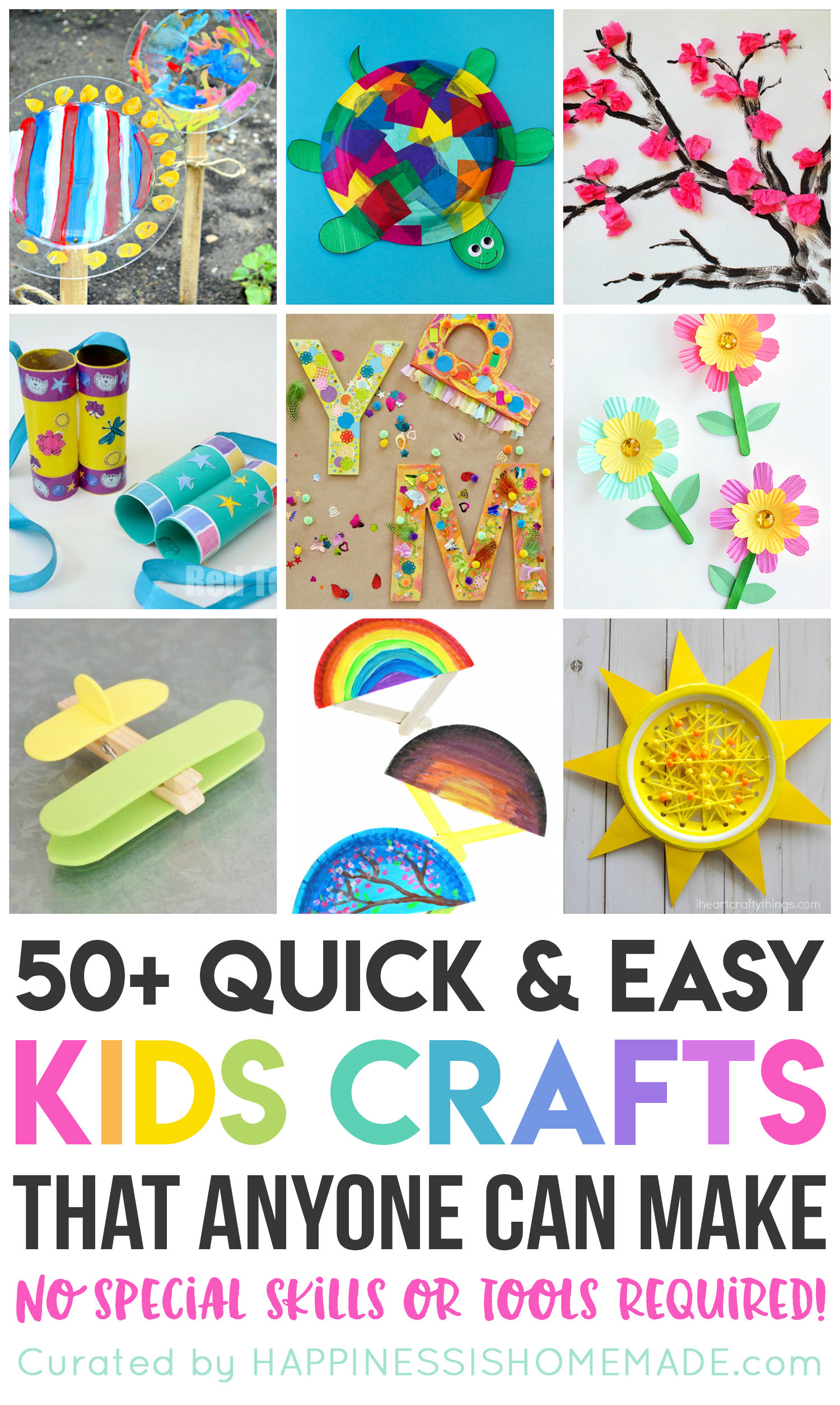 Quick And Easy Crafts For Kids  Quick & Easy Halloween Crafts for Kids Happiness is Homemade
