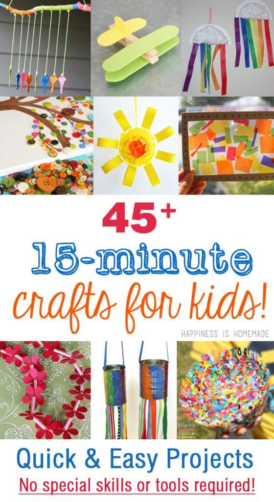 Quick And Easy Crafts For Kids  45 Quick & Easy Kids Crafts that ANYONE Can Make