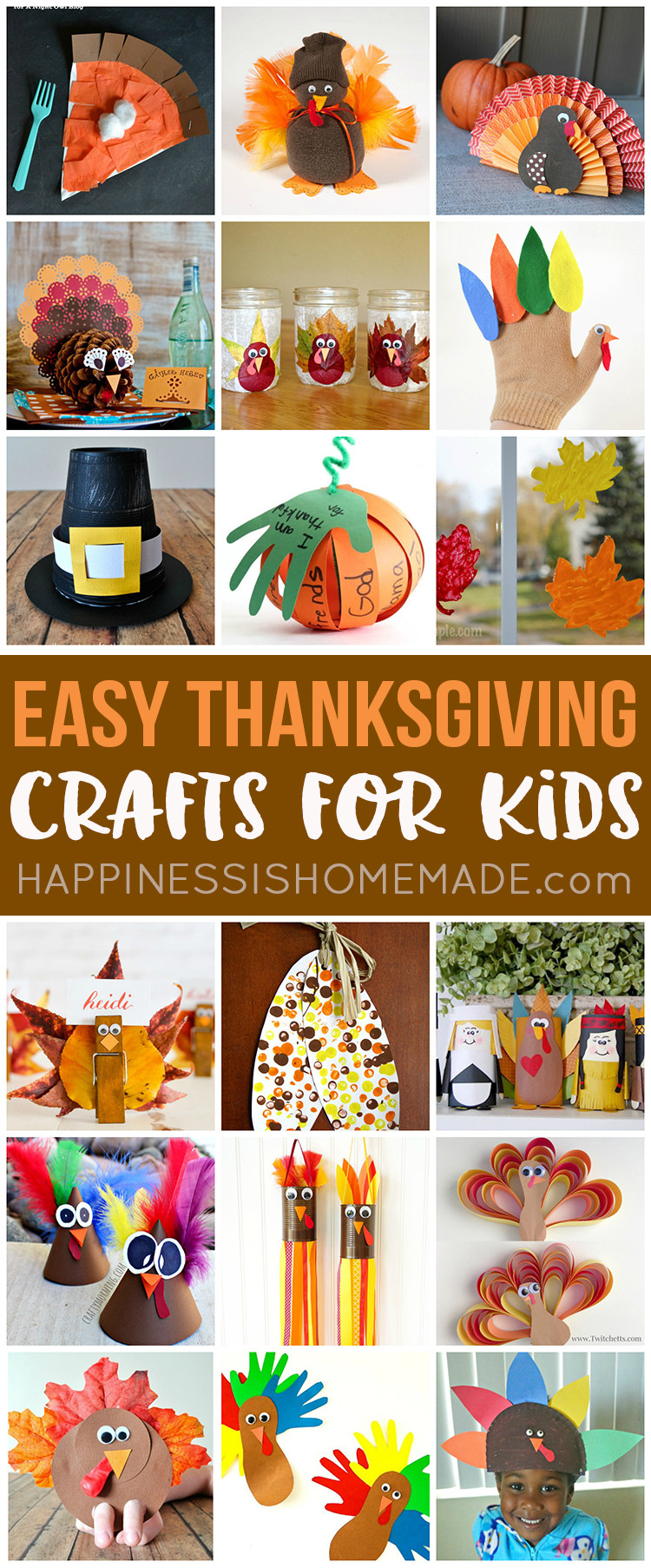 Quick And Easy Crafts For Kids  Easy Thanksgiving Crafts for Kids to Make Happiness is