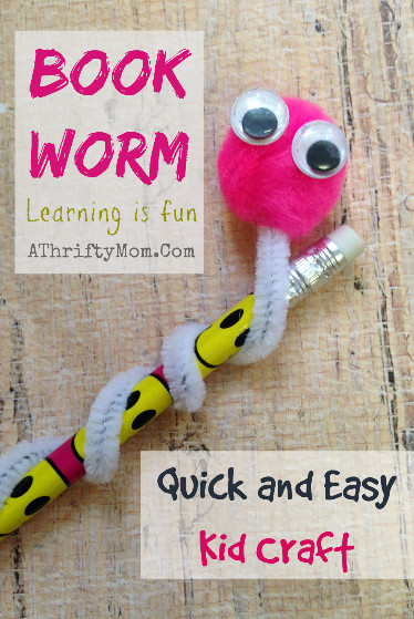 Quick And Easy Crafts For Kids  Book Worm Quick and easy kid craft Kids Craft A