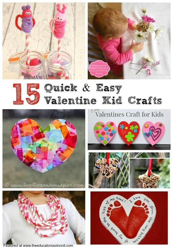 Quick And Easy Crafts For Kids  Quick and Easy Valentine s Day Crafts for Kids